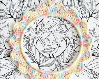 Water lily crochet setting