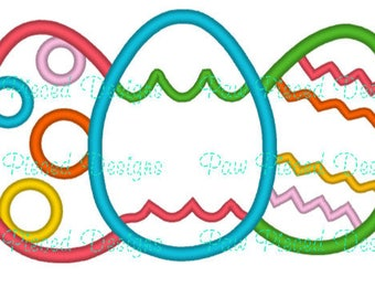 Classic Easter Eggs Applique File