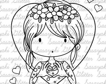 You Got My Heart Digital Stamp By Sasayaki Glitter
