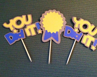Awards - YOU DID IT!!! Celebration Cupcake Toppers - Set of 12