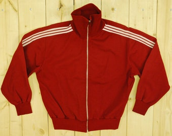 Vintage 1976 Montreal Olympics Blue ADIDAS Track Jacket / Retro Collectable Rare OcCfPXrhNz