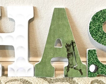 Sports theme baby etsy sport themed nursery baby boy name wooden wall letters football basketball baseball negle Image collections
