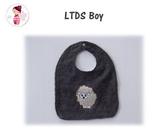 BOY LAMB MADE OF COTTON AND TERRY BIB