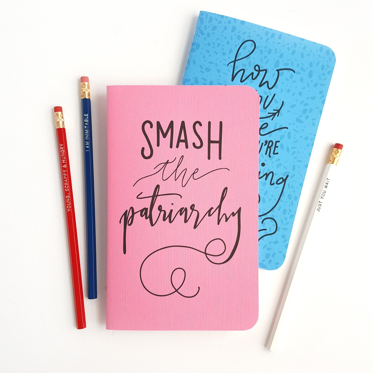 Smash the patriarchy journal hand lettered hamilton notebook zoom arubaitofo Image collections