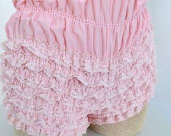 Vintage boudoir 50's ruffle bottoms pink panties