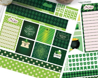 March Big HP Planner Stickers, Big HP March Planner Stickers, St Patrick's Day Planner Kit, Printable Stickers, Monthly Planner,St Patrick's