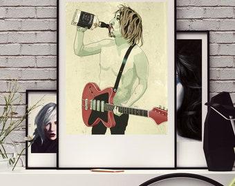 Olek. Illustration art, print signed, Digital Poster, Art Poster, Fine Print, Digital Portrait, CG Poster, Wall Decor