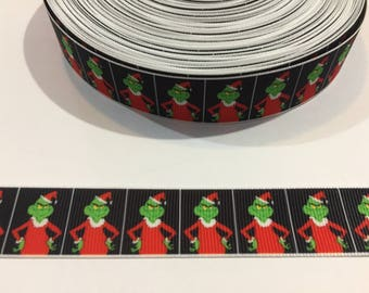 "3 Yards of 7/8"" Ribbon - The Grinch Who Stole Christmas"