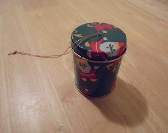 12 tin can Christmas ornaments