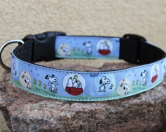Dog Collar with Snoopy Theme - Peanuts - Snoopy and Tweetey Bird - Snoopy collar