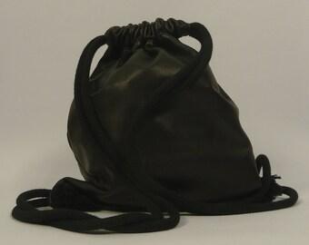 Franz - black leather gym bag *LIMITED EDITION
