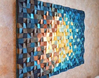 Wood Wall Art   The Universe, Reclaimed Wood Art, 3 D Wall Art Decor, Wood  Mosaic, Wood Sculpture, Abstract Painting