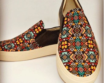 Mocassin Shoes Colombian Handmade. Muisca Design