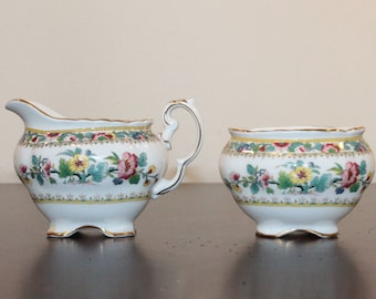 Coalport Ming Rose Creamer and Open Sugar -  1970-1993