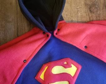 Superman carseat safe poncho