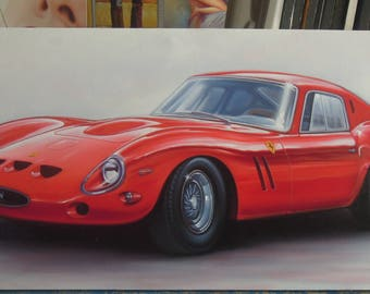"Ferrari car painting oil painting on canvas 24""X48"""