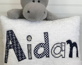 Personalized Name Pillow Chenille Pillow
