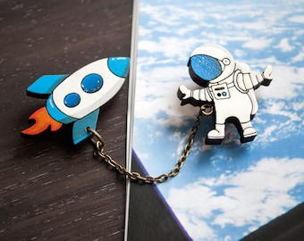 "Brooch ""Outer space """