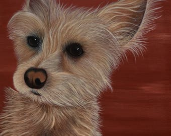 12x12 Custom Pet Portrait, Acrylic Painting