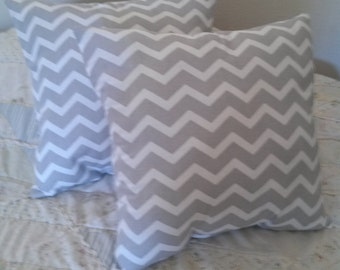 Light Gray and White Chevron Pillows  for your Couch or Bed, Decorative, Throw Pillows,Interior Decor, Zigzag Home Sweet Home Decor Pillows!