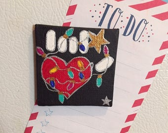 Christmas Love Hand Painted Magnet