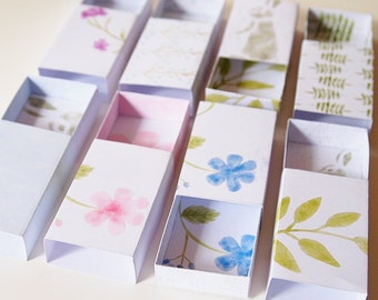 PDF Printable Matchbox DIY Wedding Favor Tutorial and Template