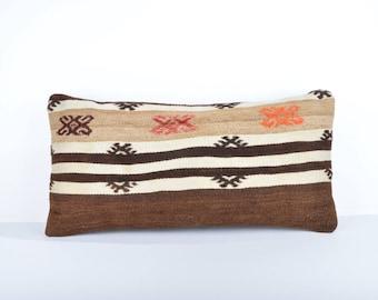 Kilim pillow cover, Kilim Pillow, Turkish Pillow, Kilim Cushions, Kilim, Moroccan Pillow, Bohemian Pillow, Turkish Kilim, KP95 (tp1601)