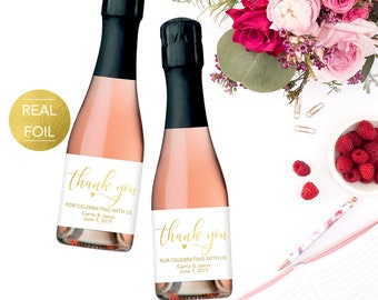 Wedding Champagne Labels, Wedding Champagne Favor Labels, Wedding Wine Labels, Wedding Champagne Favors, Wedding Thank You Favor Label