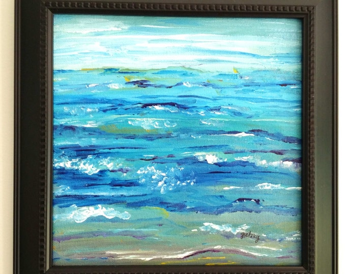 Ocean Abstract Original Painting Free Shipping USA