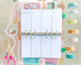 Personal Planner Inserts Weekly Planner Horizontal Printable Filofax Personal TN Inserts Week On 2 Pages with Cutlines. Instant Download