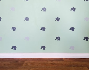 Elephant Decals - Removable vinyl wall decals/stickers