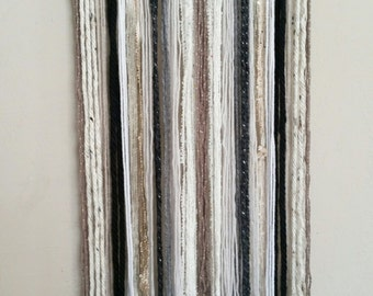Tapestry, Yarn Tapestry, Yarn Wall Hanging, Driftwood Tapestry, Neutral Colors Tapestry