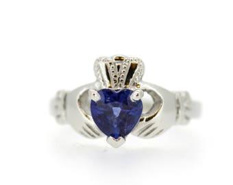 Claddagh Ring heart shape stone