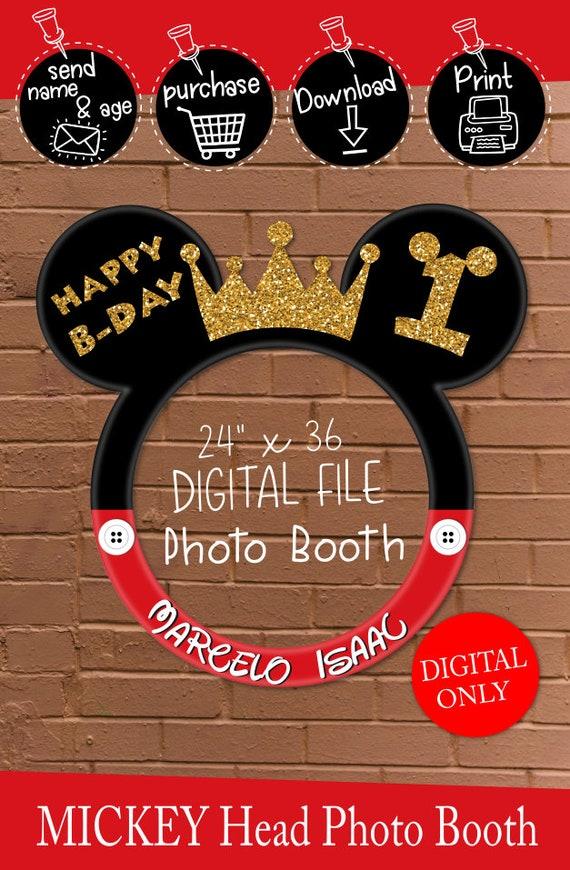 DESCARGAR Mickey Mouse 30 x 30 foto cabina marco