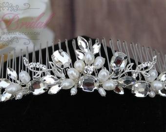 Silver or Gold Bridal Hair Comb, Wedding Hair Comb, Crystal Hair Comb, Swarovski Hair Comb, Hair Comb, Headpiece, Crystal Headpiece