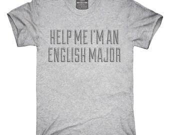 Help Me I'm An English Major T-Shirt, Hoodie, Tank Top, Gifts