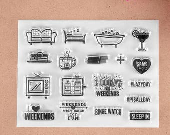 I Love Weekends Planner Clear Stamp Set