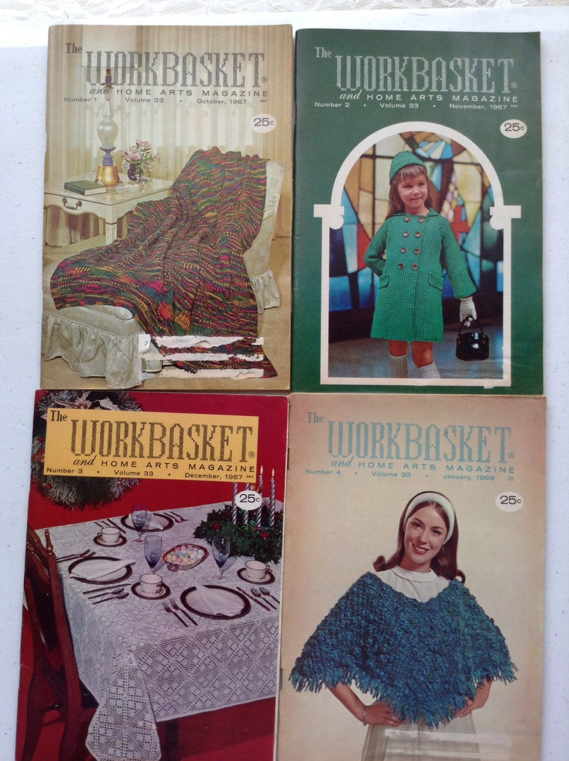 The Workbasket Magazine, Volume 33, Small Lots, Home and Needlecraft ...