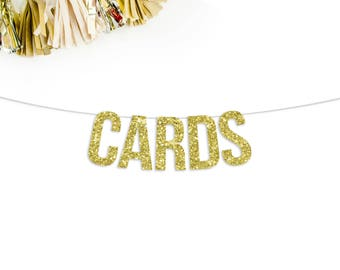 Cards Banner | wedding decor | card table banner | birthday card banner | table banner | card table sign | gift table sign