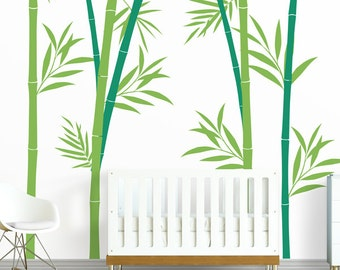 Bamboo Stalks, Branches, and Leaves Wall Decals for Baby Nursery or Kids Room WAL-2108