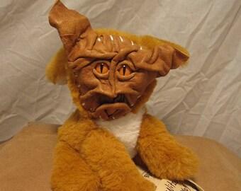 "Grichels G-Wok - ""Nitzek"" 31404 - caramel brown leather with poppy orange slit pupil reptile eyes"