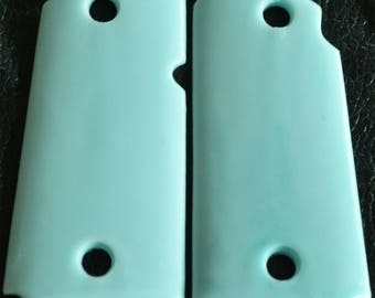 Kimber micro 9 pistol grips smooth seafoam color plastic