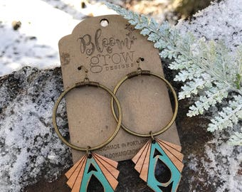 Earrings - Large Circle Drop