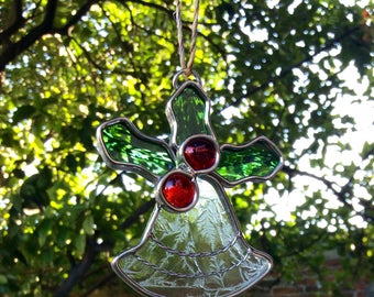 Christmas sphere / Christmas bell / christmas suncatcher / tree suncatcher / stained glass / suncatcher / hanging decoration