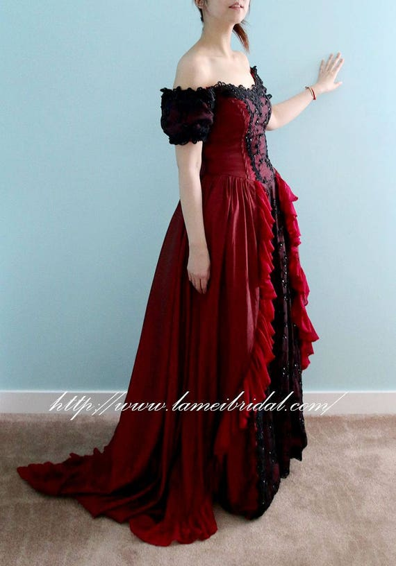 Fancy Black And Red Wedding Gowns Elaboration - Wedding Dresses and ...
