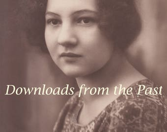 Vintage 1920s Portrait of a Young Lady Liesel Digital Download