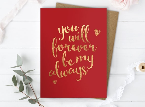 Romantic anniversary greeting cards ~ Love you card boyfriend love you card husband romantic card