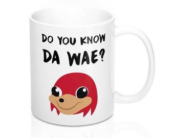 Do You Know Da Wae Ceramic Mug Socks Meme Socks Pattern Best Internet Meme Gifts