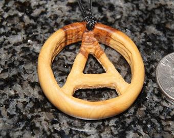 SALE - Olive Wood Pendant, wood jewelry, wood grain