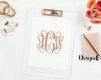 Foil Print - Fancy Monogram